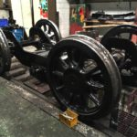 Refurbished front bogie for 506 awaiting final assembly