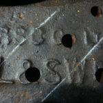 Stamped on the tender bogie castings