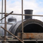 Cut-down stovepipe on boiler 451