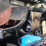 Curved plate section retrieved
