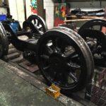 Refurbished front bogie for 506 awaiting final assembly