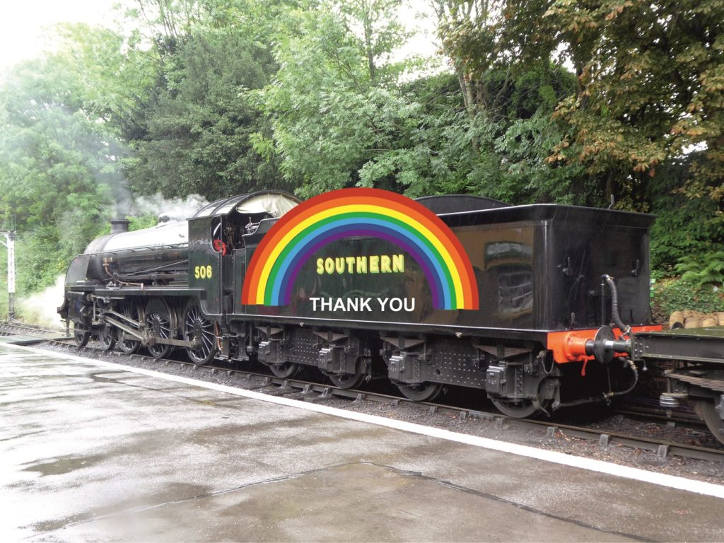 The Urie Locomotive Society say thanks to the NHS and support staff - S15 506