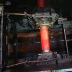 View from the running plate of rear axle and axle box assembly